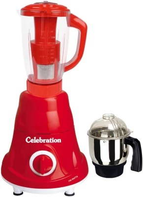 Celebration Latest Jar attachments of chutney & juicer jarType-47 600 W Juicer Mixer Grinder(Multicolor, 2 Jars)