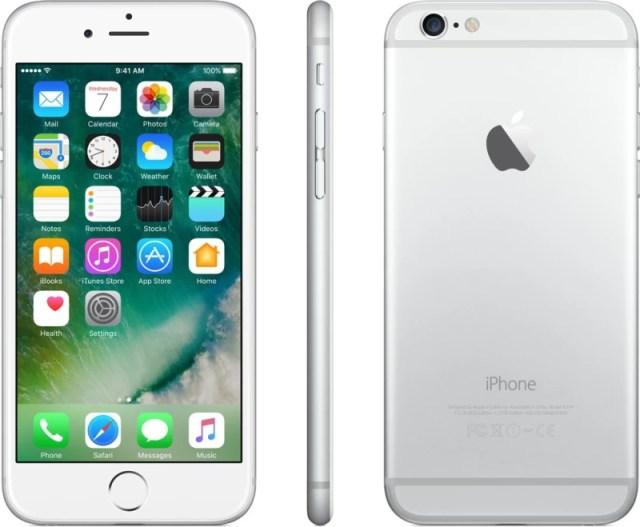 Apple iPhone 6 (Silver, 16 GB)(1 GB RAM)