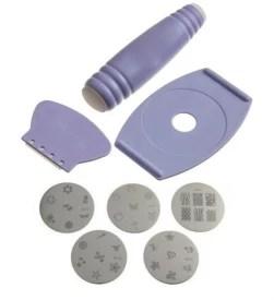 Shrih Nail Polish Art Decoration Sting Design Kit Light Purple