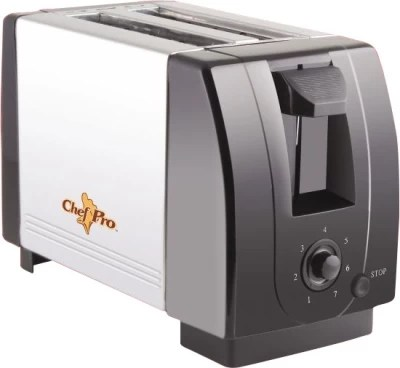 Chef Pro Compact Design with Browning Settings 750 W Pop Up Toaster(Black, Steel)