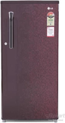 LG 190 L Direct Cool Single Door Refrigerator(GL- B205KWCL, Wine Crystal)
