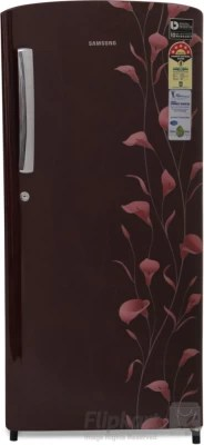 SAMSUNG 192 L Direct Cool Single Door Refrigerator(RR19K173ZRZ/HL, Tender Lily Red)