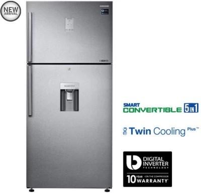 SAMSUNG 523 L Frost Free Double Door Refrigerator(RT54K6558SL/TL, Easy Clean Steel)
