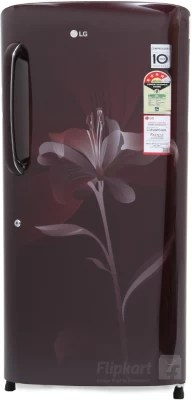 LG 215 L Direct Cool Single Door Refrigerator(GL-B221ASLS, Scarlet Lily, 2016)