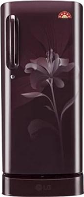 LG 235 L Direct Cool Single Door Refrigerator(GL-D241ASLN, Scarlet Lily)