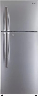 LG 360 L Frost Free Double Door Refrigerator(GL-T402HPZM, Shiny Steel, 2016)
