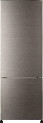 Haier 345 L Frost Free Double Door Refrigerator(HRB-3653BS-H, Brushed Silver)