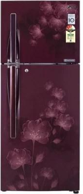 LG 310 L Frost Free Double Door Refrigerator(GL-D322JSFL, Scarlet Florid)