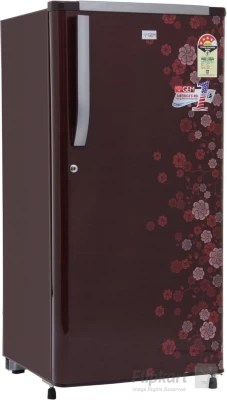 GEM 200 L Direct Cool Single Door Refrigerator(GRDN-2304 SRTP, PCM Floral (Spicy Red))