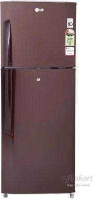 LG 240 L Frost Free Double Door Refrigerator(GL-B252VMGY, Burgundy Blaze)