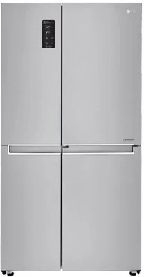 LG 687 L Frost Free Side by Side Refrigerator(GC-M247CLBV, Shiny Steel/Platinum Silver/VCM-PLATINUM SILVER, 2016)