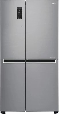 LG 687 L Frost Free Side by Side Refrigerator(GC-B247SLUV, Shiny Steel/Platinum Silver3, 2016)