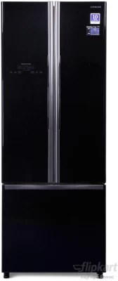 Hitachi 456 L Frost Free French Door Bottom Mount Refrigerator(R-WB480PND2, Glass Black, 2016)