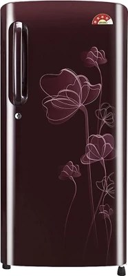LG 190 L Direct Cool Single Door Refrigerator(GL-B201ASHL, Scarlet Heart, 2016)