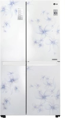LG 687 L Frost Free Side by Side Refrigerator(GC-B247SCUV, Daffodil White, 2016)