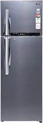 LG 360 L Frost Free Double Door Refrigerator(GL-D402RSHM(SV), Nobel Steel)