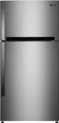 LG 420 L Frost Free Double Door Refrigerator(GL-I472HNSM, Noble Steel)