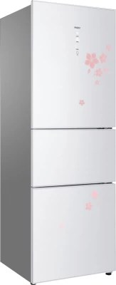 Haier 332 L Frost Free Triple Door Refrigerator(HRB 386WFG, White Floral)