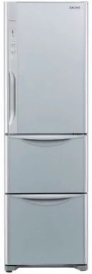 Hitachi 336 L Frost Free Triple Door Refrigerator(R-SG31BPND, Glass Silver)