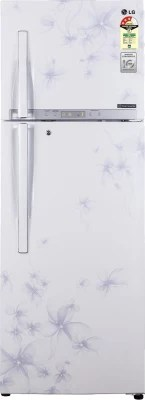LG 335 L Frost Free Double Door Refrigerator(GL-D372HDWL, Daffodil White)