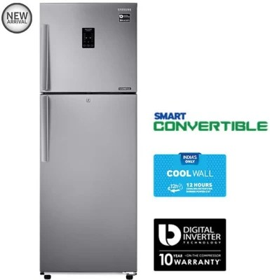 SAMSUNG 272 L Frost Free Double Door Refrigerator(RT30K3983SL, EZ Clean Steel)
