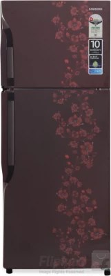 SAMSUNG 255 L Frost Free Double Door Refrigerator(RT26H3000RX, Orcherry Garnet Red, 2016)