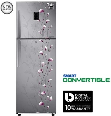 SAMSUNG 253 L Frost Free Double Door Refrigerator(RT28K3953SZ, Tender Lily Silver)