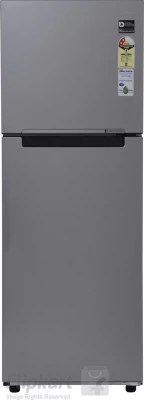SAMSUNG 253 L Frost Free Double Door Refrigerator(RT28K3022SE, Elective Silver, 2016)