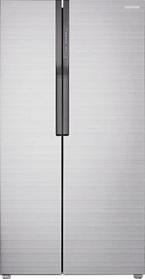 SAMSUNG 591 L Frost Free Side by Side Refrigerator(RS552NRUA7E, Fair Isle Silver)