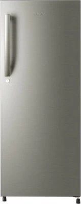 Haier 220 L Direct Cool Single Door Refrigerator(HRD-2406BS-R, Brushline Silver, 2016)