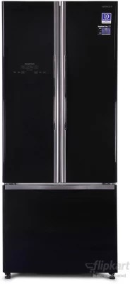 Hitachi 510 L Frost Free Side by Side Refrigerator(R-WB550PND2, Glass Black, 2016)