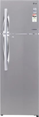 LG 360 L Frost Free Double Door Refrigerator(GL-P402JNSL, Noble Steel)