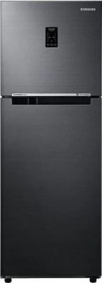 SAMSUNG 253 L Frost Free Double Door Refrigerator(RT28K3753BS/HL, Black Inox)