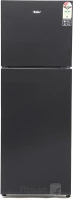 Haier 247 L Frost Free Double Door Refrigerator(HRF-2674PKG-R, Black Glass, 2016)