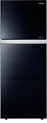SAMSUNG 415 L Frost Free Double Door Refrigerator(RT42HAUDEGL, Glass Black)