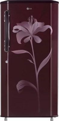 LG 215 L Direct Cool Single Door Refrigerator(GL-B225BSLL, Scarlet Lily)