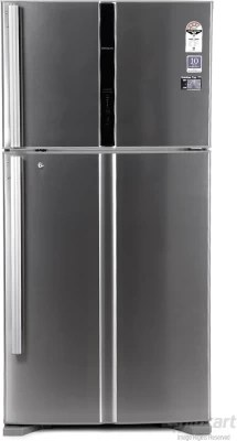 Hitachi 565 L Frost Free Double Door Refrigerator(R-V610PND3KX, Stainless Steel)
