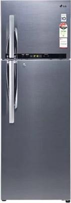 LG 335 L Frost Free Double Door Refrigerator(REF D-372 RSHM, Nobel Steel, 2016)