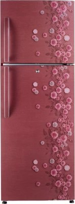 Haier 335 L Frost Free Double Door Refrigerator(HRF-3553PRL-R, Red Liana)