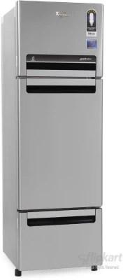 Whirlpool 330 L Frost Free Triple Door Refrigerator(FP 343D PROTTON ROY, Alpha Steel (N), 2016)