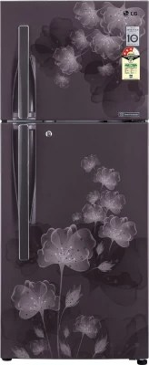 LG 285 L Frost Free Double Door Refrigerator(GL-D302JGFL, Graphite Florid)