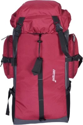 JUSTGEAR JG_501_Red_Grey Rucksack  - 60 L(Red and Grey)