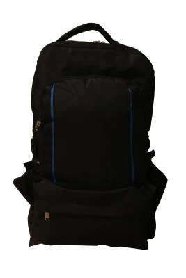 One Up Expandable Black Smart Rucksack  - 40 L(Black)