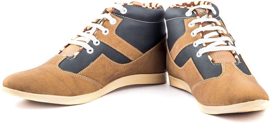 Kohinoor Beautiful Ankle Brown Blue Casual Shoes