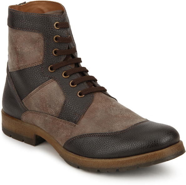 Knotty Derby Brown Crouch Boots(Brown)