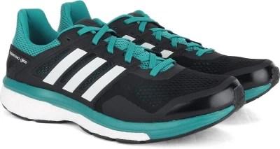 Adidas SUPERNOVA GLIDE 8 M Men Running Shoes(Black, Green, White)