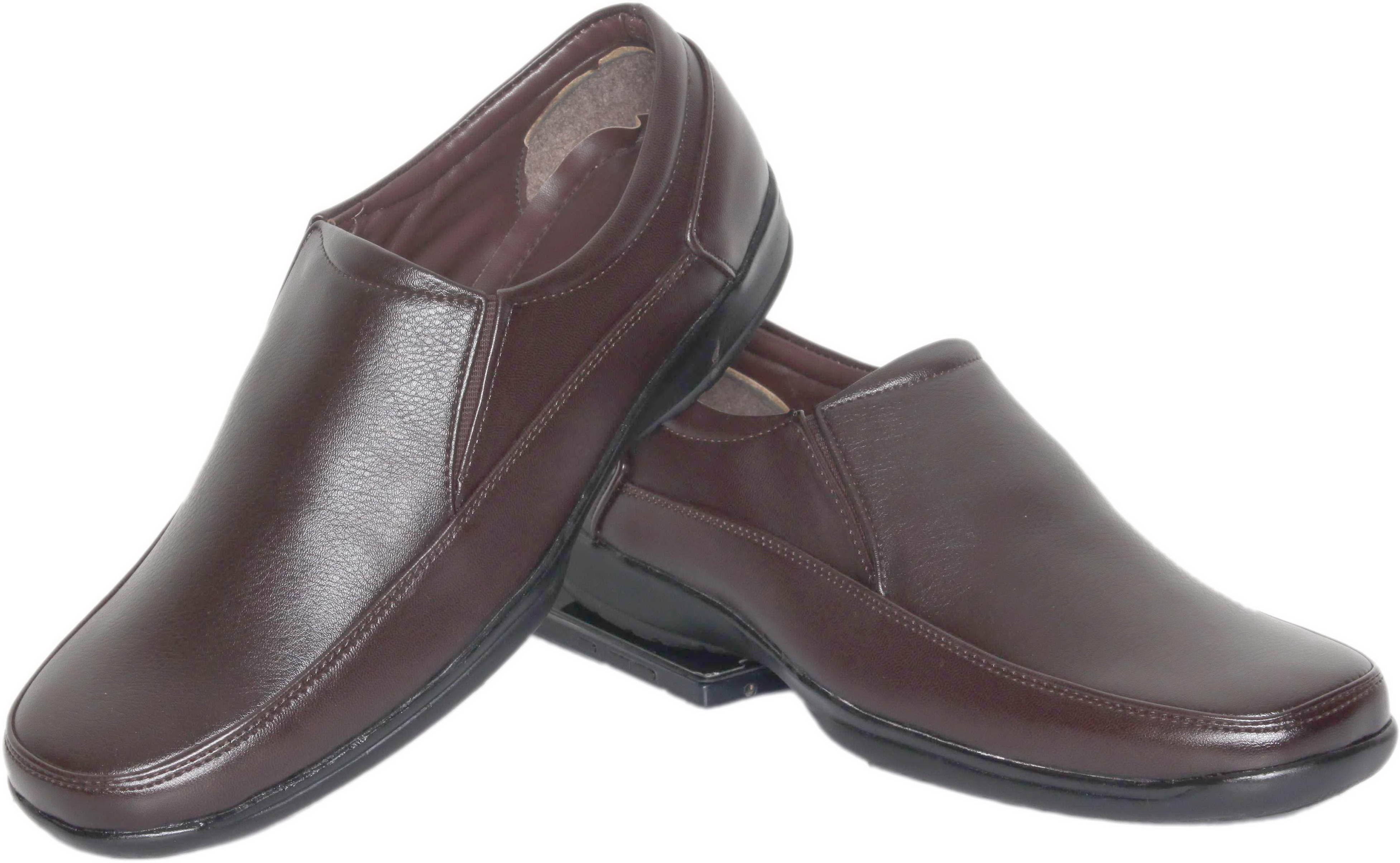 Azzaro Black Airstep Slip On Shoes(Brown)