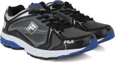 Fila FLY Running Shoes(Black, Grey, Silver)