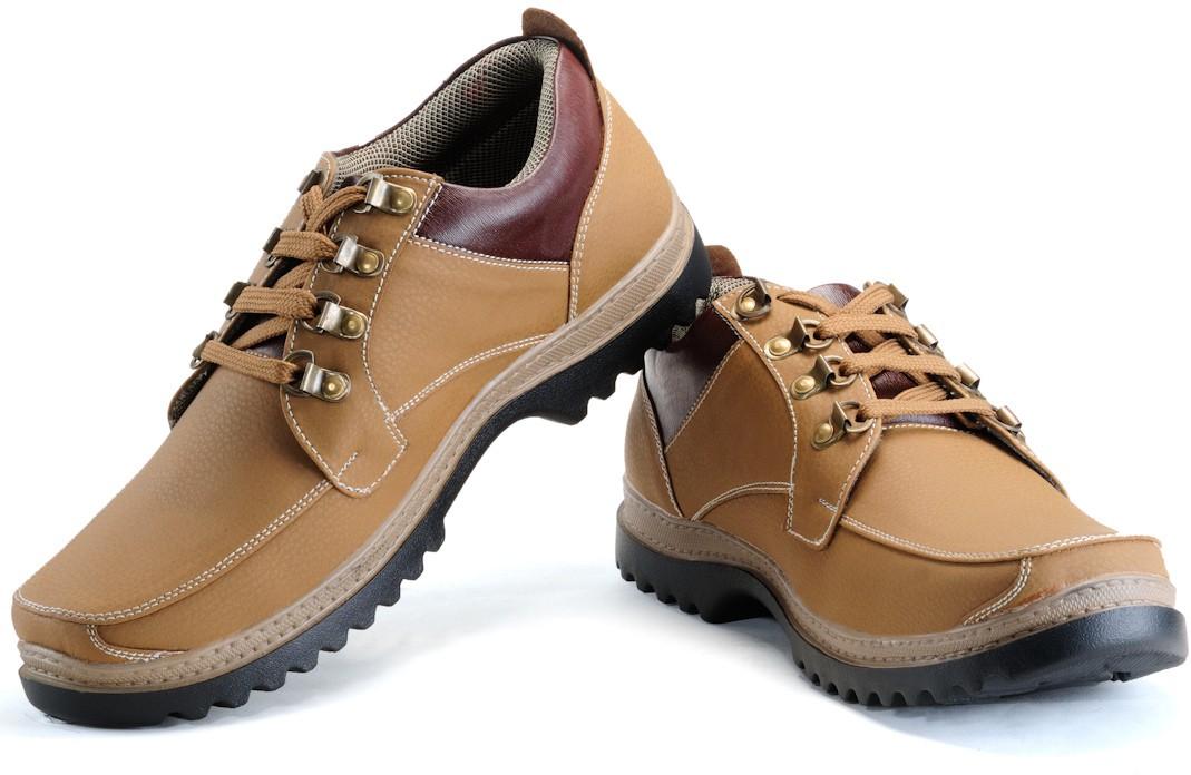 Randier R024 Casual Shoes(Beige)