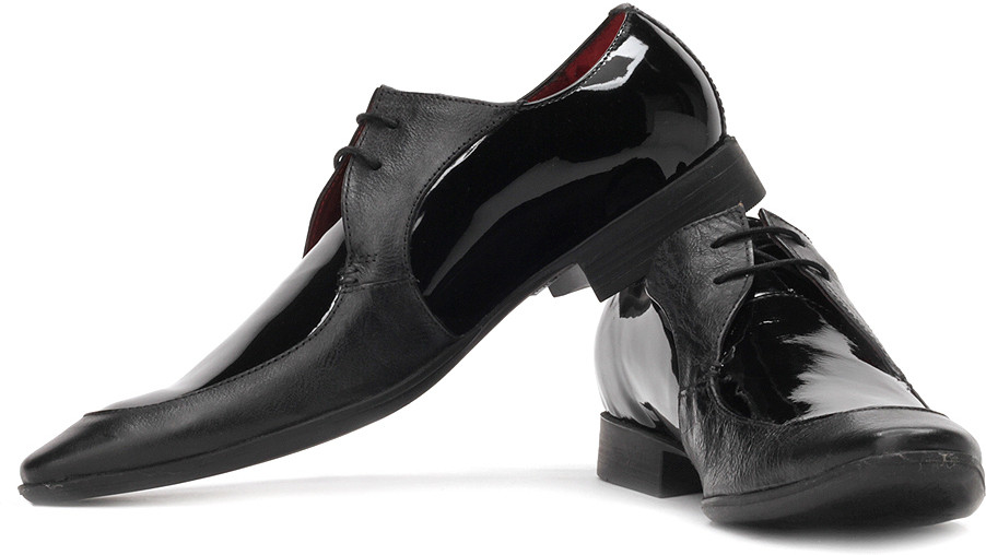 Ruosh Patent Leather Club Shoes(Black)